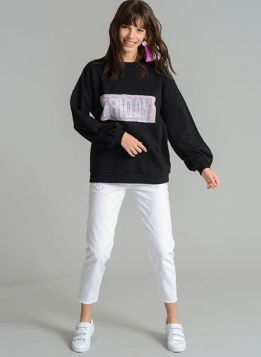 Payet Detaylı Sweatshirt-Agenda